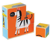 6 sided animal block puzzle